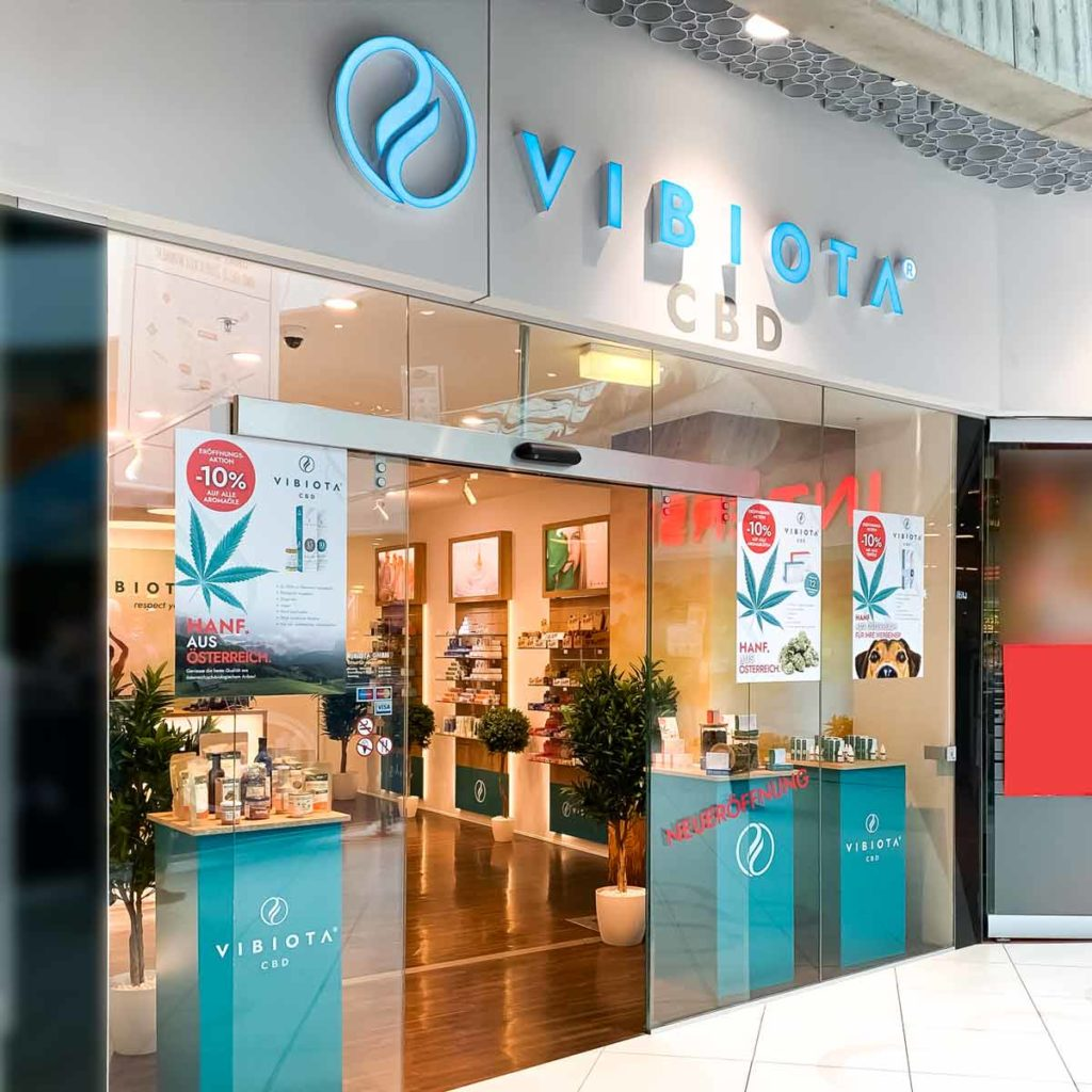 Foto 1 unserer Vibiota CBD Store Shop Filiale in Wien Mitte The Mall, 1030