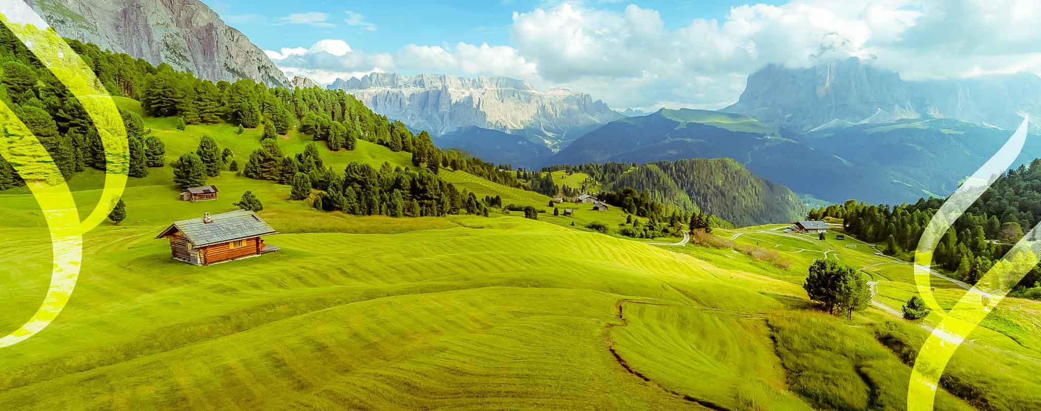 View of mountainous landscape in Austria