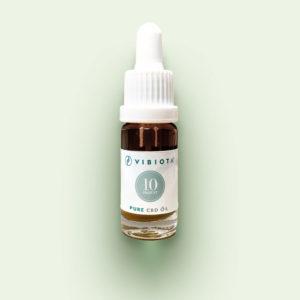 "Product photo VIBIOTA Bio ""Pure CBD"" Oil 10ml bottle, 10%, 1000mg CBD, pure CBD crystals, base: mixture of MCT and hemp seed oil"