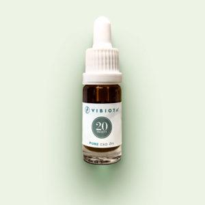 """Produktfoto VIBIOTA Bio """"Pure CBD"""" Öl 10ml Flasche, 20%, 2000mg CBD, reine CBD Kristalle, Basis: Mischung aus MCT- und Hanfsamenöl"""