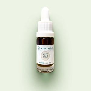 """Produktfoto VIBIOTA Bio """"Pure CBD"""" Öl 10ml Flasche, 25%, 2500mg CBD, reine CBD Kristalle, Basis: Mischung aus MCT- und Hanfsamenöl"""