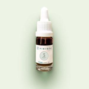 """Produktfoto VIBIOTA Bio """"Pure CBD"""" Öl 10ml Flasche, 5%, 500mg CBD, reine CBD Kristalle, Basis: Mischung aus MCT- und Hanfsamenöl"""