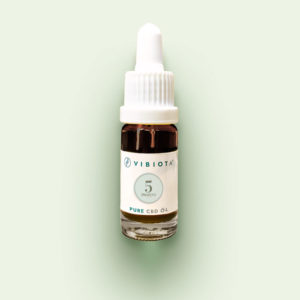 "Product photo VIBIOTA Bio ""Pure CBD"" Oil 10ml bottle, 5%, 500mg CBD, pure CBD crystals, basis: mixture of MCT and hemp seed oil"